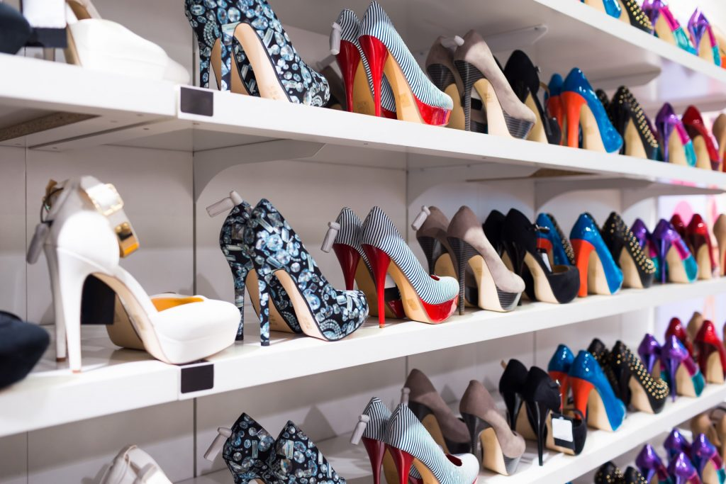 Wide variety of shoes in-stock in fashion store