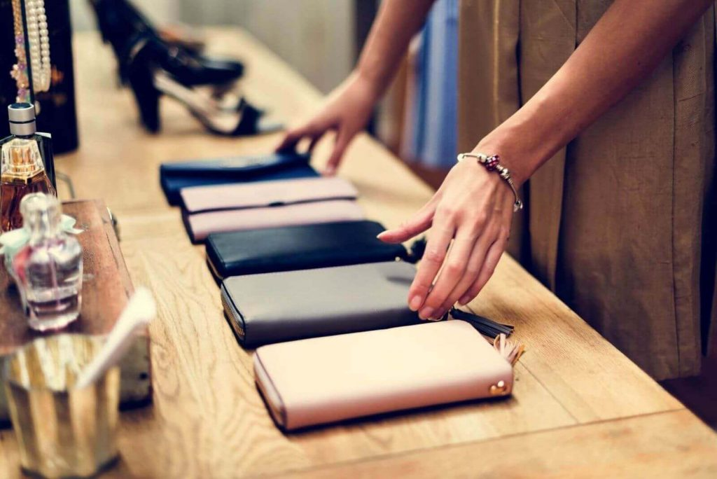 New product pricing can be set by different product lines. (high end wallets demonstrated)